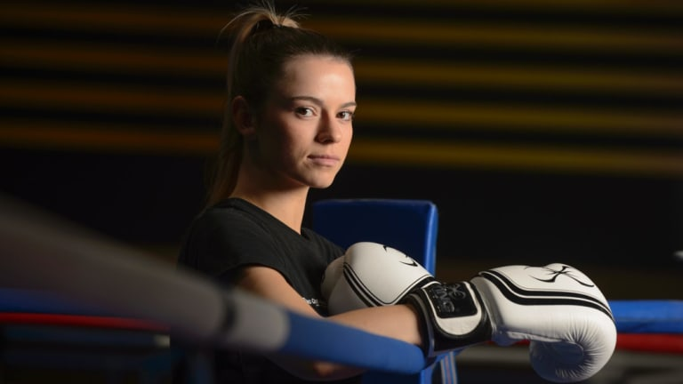 Boxer Skye Nicolson is eyeing Olympic gold.