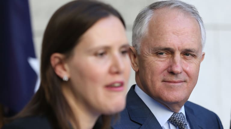 Malcolm Turnbull and Victorian member Kelly O'Dwyer.