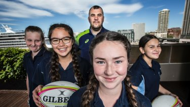 Growth: Rugby was the third most requested sport in Sporting Schools' term 3 program in secondary schools across the country.