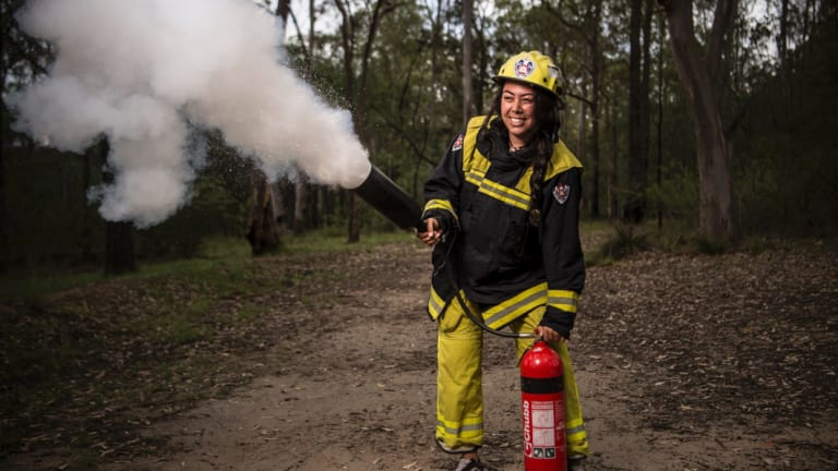 Kenya Tipene, 16, is part of a group of 20 young women attending a week-long camp at Yarramundi.