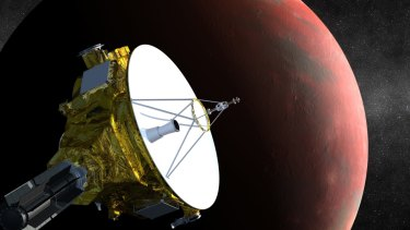 An artist's rendition of NASA's New Horizons spacecraft, en route to Pluto.