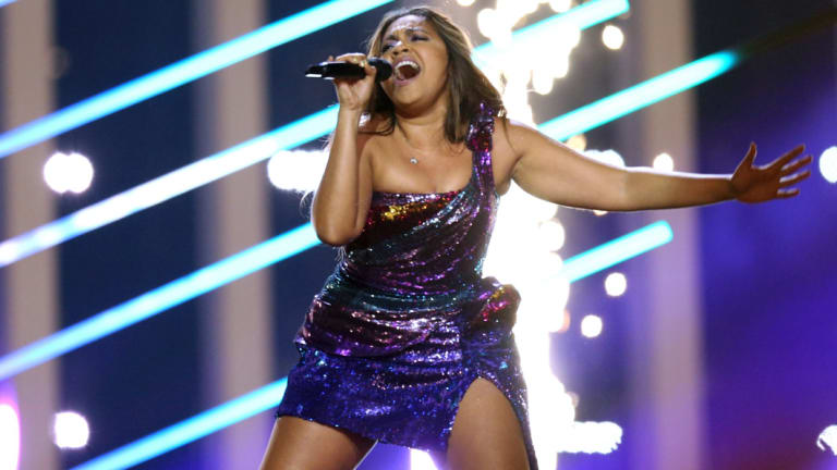 Jessica Mauboy at Eurovision this year.