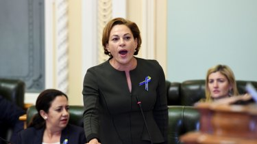 Treasurer Jackie Trad described the comparison as offensive.