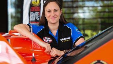 Rally car driver Molly Taylor.