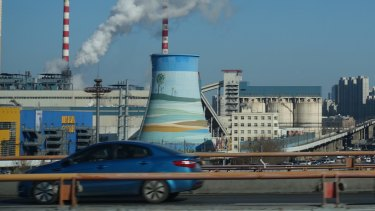 A coal-fired power station in the Chinese city of Qingdao.