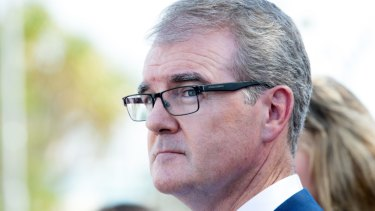 Talking a big game: Opposition Leader Michael Daley.