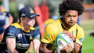 Henry Speight was back at Brumbies training on Tuesday.