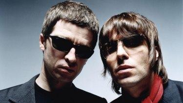Noel and Liam in Oasis's heyday.