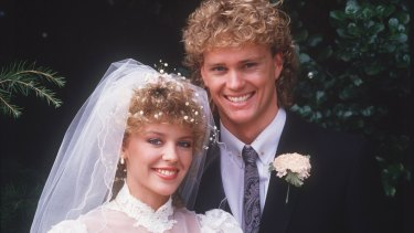 A young Craig McLachlan with Kylie Minogue in Neighbours.