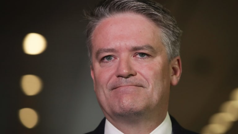 Minister for Finance Mathias Cormann