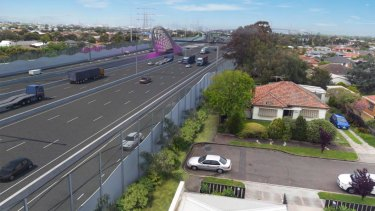 Tunnel entrance in Yarraville going towards CityLink. Artist's impression. Source: Western Distributor Authority Supplied