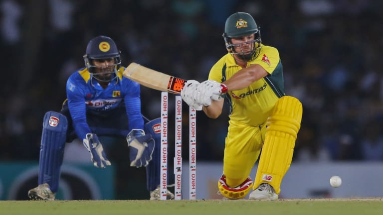 Finch looks to sweep against Sri Lanka in 2016.