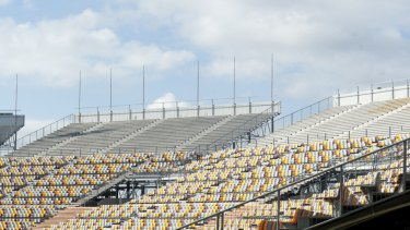 QSAC's empty stands.