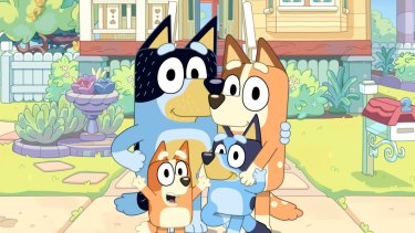 The cast of the animated hit Bluey