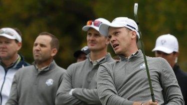 Second best: The Europeans were well beaten at Hazeltine National Golf Club in 2016.