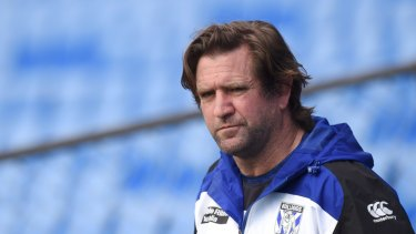 Less is Belmore: Former Bulldogs coach Des Hasler.