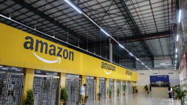 Some Amazon warehouses are as big as five Melbourne Cricket Grounds.