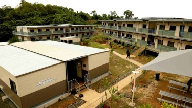 Buildings at the East Lorengau Refugee Transit Centre and West Lorengau Haus on Manus Island.  Photo: Australian Department of Immigration and Border Protection