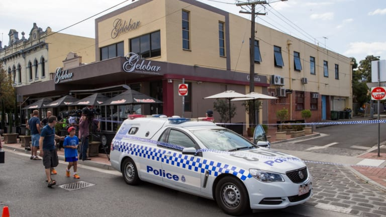 Mr Acquaro's body was found in St Phillip Street, the side street next to his Lygon Street cafe Gelobar.