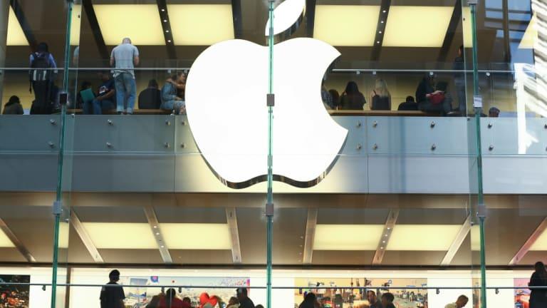 Apple's flagship Sydney store. Photographer: Brendon Thorne/Bloomberg