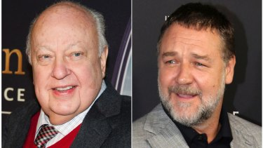Russell Crowe (right) is to play Roger Ailes in a Showtime series about the disgraced Fox News executive.