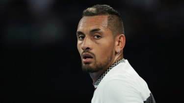 Nick Kyrgios has notched a win in Florida.