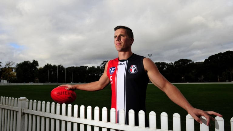 Former AFL player Nick Salter has returned to Ainslie this season to enjoy his footy again.