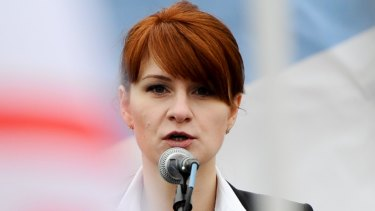Maria Butina, pictured speaking at a pro-gun rally in Moscow in 2013, infiltrated the top levels of the National Rifle Association and the Republican Party.