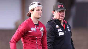 Brett Ratten (right) will talk to the Saints next week about the vacant coaching position.