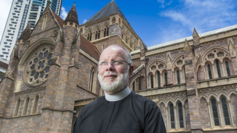 The Anglican Dean of Brisbane, Dr Peter Catt, at St John's Anglican Cathedral.