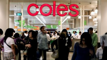 Coles food and liquor sales  jumped in the first quarter.