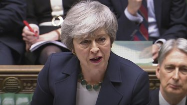 British PM Theresa May during the latest vote.