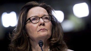 CIA director Gina Haspel.