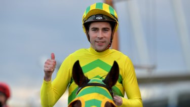 Two from two: jockey Adam Hyeronimus will again partner Westlink at Randwick.