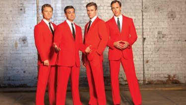 Bernard Angel, second from left, as Frankie Valli in a publicity shot for the show.