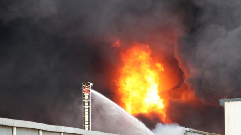 Firefighters battled for 17 hours to bring the blaze under control on Thursday.