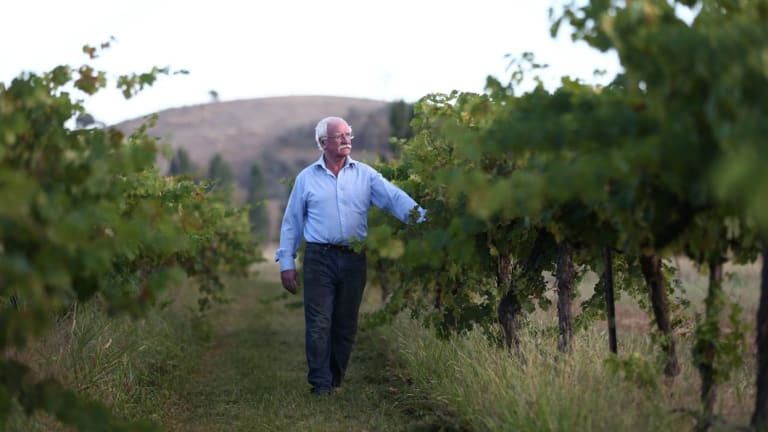 Ken Helm planted his first vines in Murrumbateman 45 years ago.