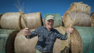 Taralga farmer Trevor Menzies, who was thrilled to receive donated hay despite being initially reluctant because he believed others needed it more.