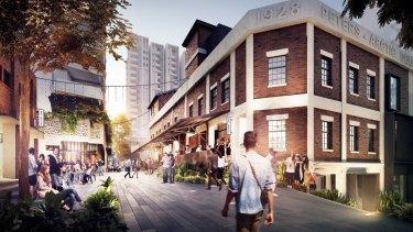 An artist's impression of the plan for West Village at West End.