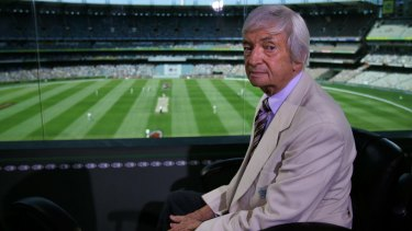 Legend: The one and only Richie Benaud.