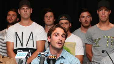 Jobe Watson and his teammates at the heart of the Essendon doping scandal.