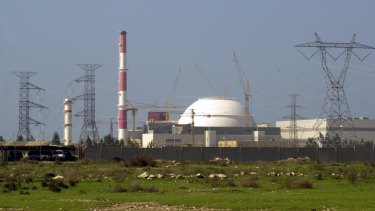 The reactor building of Iran's nuclear power plant in Bushehr, 1245km south of the capital Tehran.
