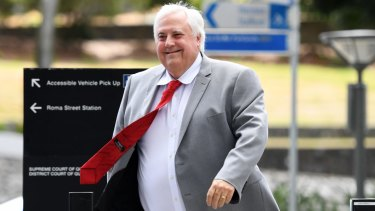 Clive Palmer said gender equality should be required by law, but just one in nine of his candidates are women.