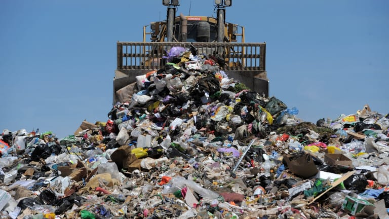 Filling up: The NSW government is banking on a big increase in waste management levies.