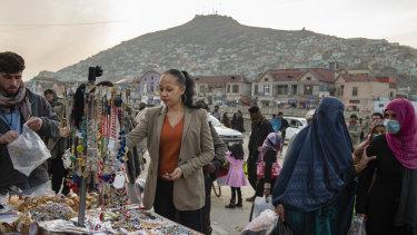 Lawyer Kimberley Motley in Kabul.