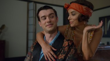 Jack Whitehall with Eva Longoria in <i>Decline and Fall</i>.