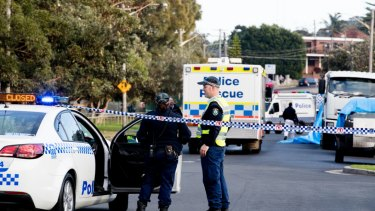 The crime scene on Mons Avenue in Maroubra on June 22, 2017, after Peter Hofmann's body was found.