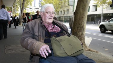 Robert Kingsley Whitehead outside Melbourne Magistrates Court in 2015.
