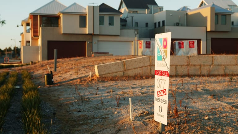 Land values across Perth are down.