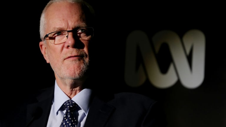 Former ABC chairman Justin Milne detailed Ms Guthrie's performance review to the Senate inquiry.